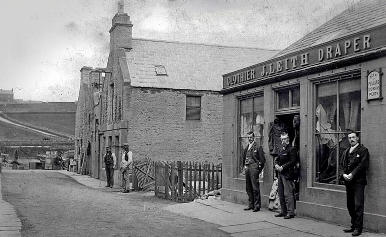 Leith's shop in the early 1900s. [From George Esson's South Ronaldsay in Retrospect